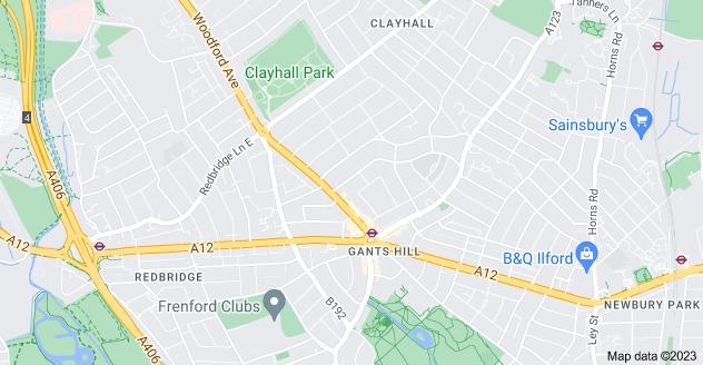 Map of Gants Hill, Ilford IG2 6TR