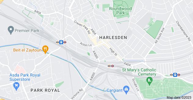 Map of Harlesden, London NW10 4UG