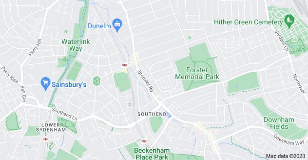 Map of Bellingham, London SE6 2SR