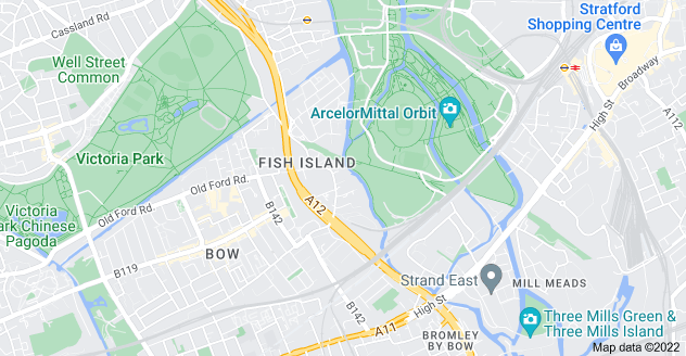 Map of Old Ford, London E3 2PW