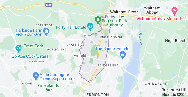 Map of Enfield EN1