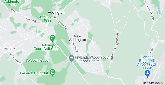Map of New Addington