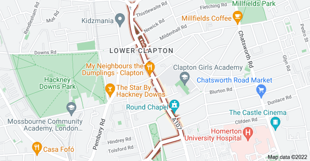 Map of Lower Clapton Rd, London E5 8EQ