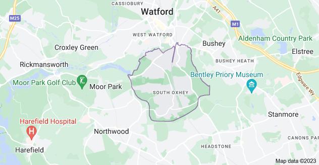 Map of Watford WD19
