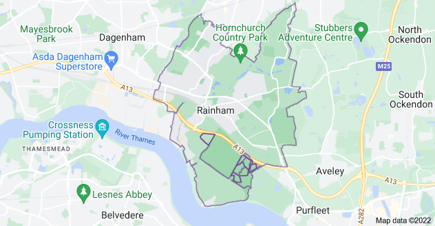 Map of Rainham RM13