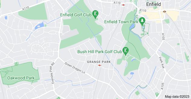 Map of Grange Park, London N21 1DD