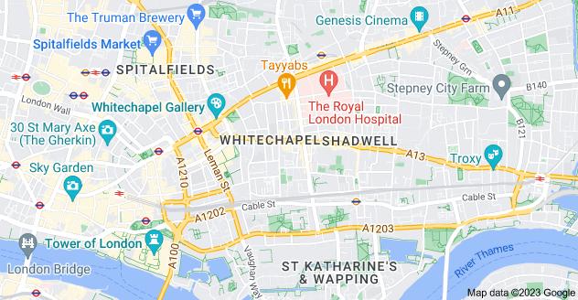 Map of Whitechapel, London
