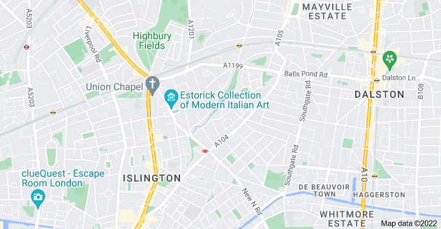 Map of Canonbury, London N1 2QB