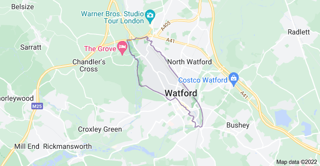 Map of Watford WD17
