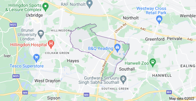 Map of Hayes UB4