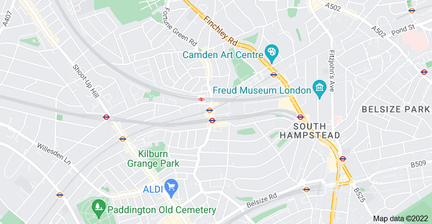 Map of West Hampstead, London NW6 1RZ