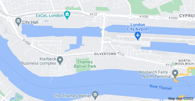 Map of Silvertown, London E16 2BY