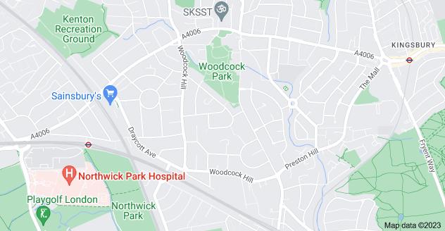 Map of Kenton, London HA3 0LT