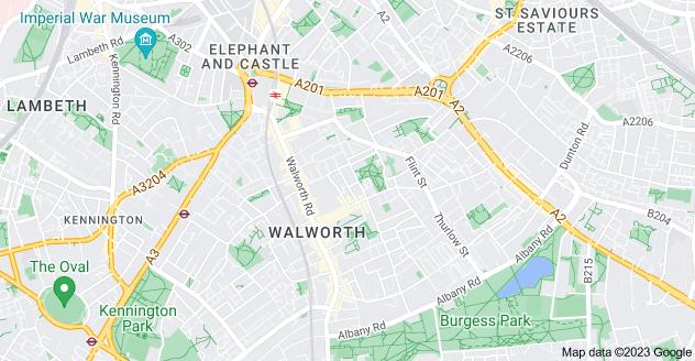 Map of Walworth, London SE17 1DX