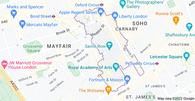 Map of Mayfair, London W1S
