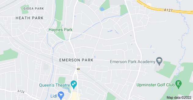 Map of Emerson Park, Hornchurch RM11 3JF