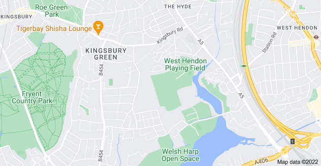 Map of West Hendon, Edgware, London NW9 7HG