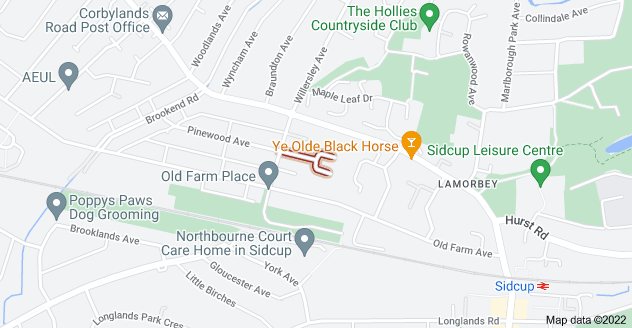 Map of Lamorbey Cl, Sidcup DA15 8BA