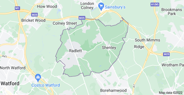 Map of Radlett WD7