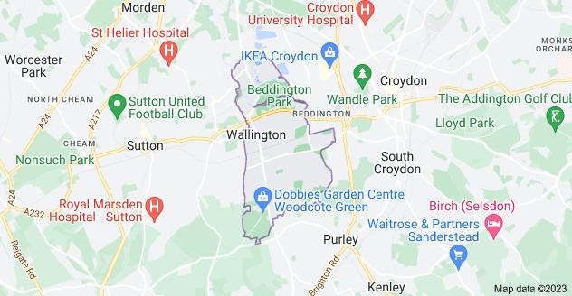Map of Wallington SM6