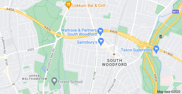 Map of South Woodford, London E18 2JS