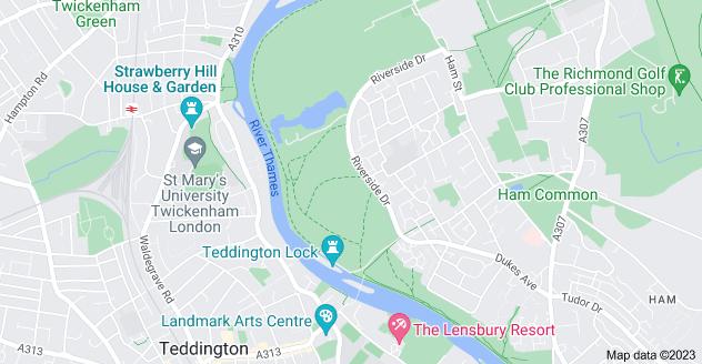 Map of Ham, Richmond TW10 7NB