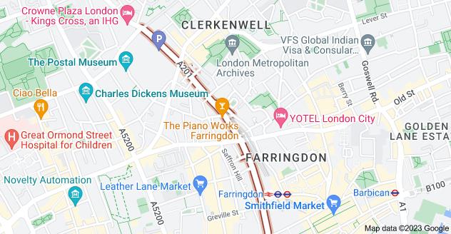 Map of Farringdon Rd, London EC1M 3HE