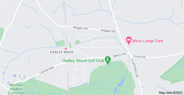 Map of Hadley Wood, Barnet EN4 0EX