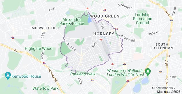 Map of London N8