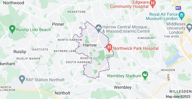 Map of Harrow HA1
