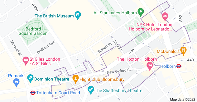 Map of London WC1A
