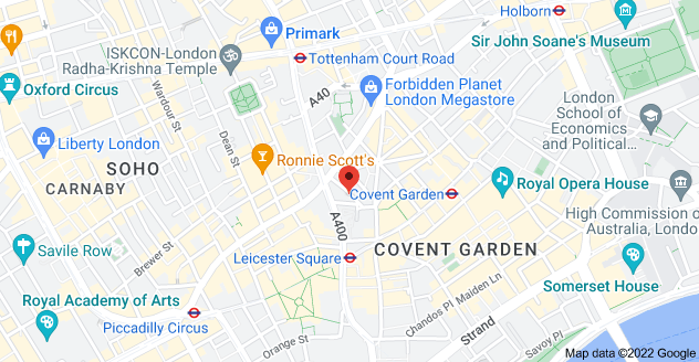 Map of 1 West St, London