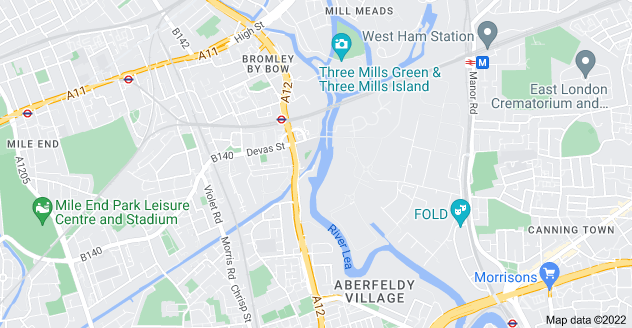 Map of Bromley By Bow, London E3 3JY