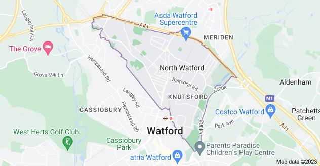 Map of Watford WD24