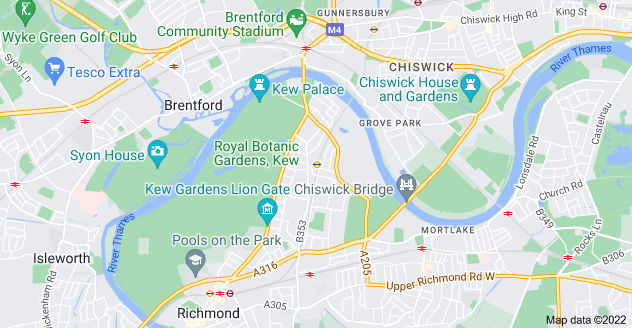 Map of Kew, Richmond