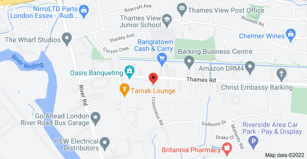 Map of 2 Crossness Rd, Barking IG11 0TF