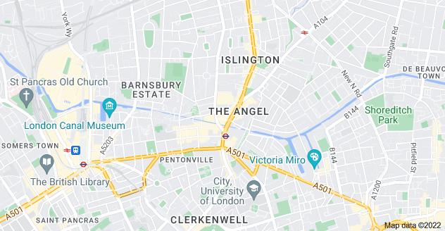 Map of The Angel, London N1 0PS