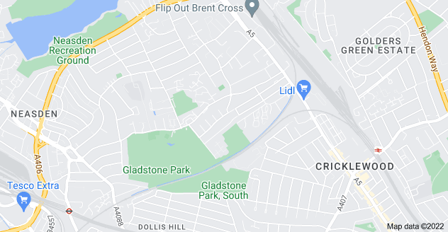 Map of Dollis Hill, London NW2 6QY