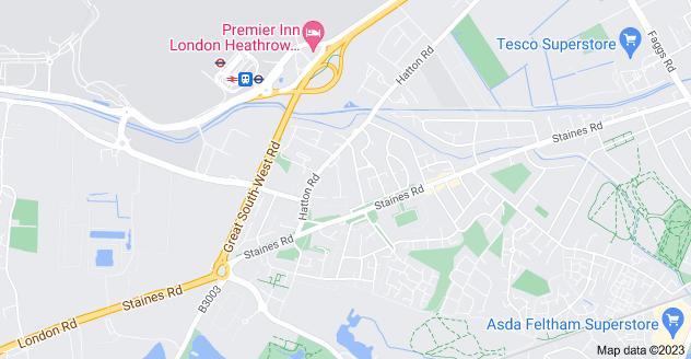 Map of East Bedfont, Feltham TW14 8JH