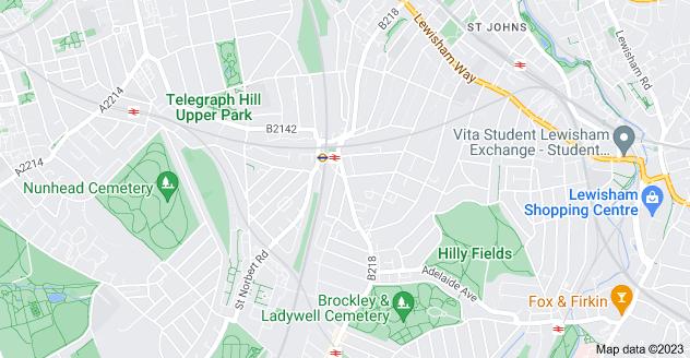 Map of Brockley, London SE4 2RS