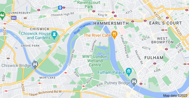 Map of Barnes, London