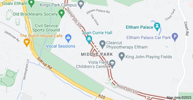 Map of Middle Park Ave, London SE9 5QR