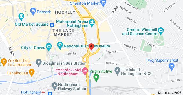Map of 7 Poplar St, Nottingham NG1 1GP