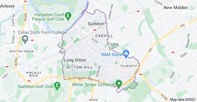 Map of Surbiton KT6