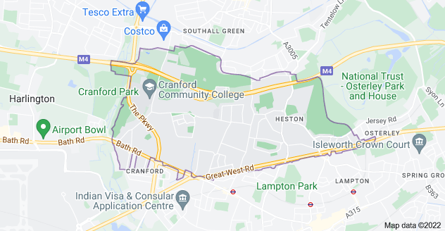Map of Hounslow TW5