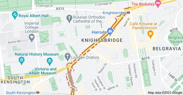 Map of Brompton Rd, London SW3
