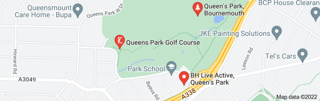 Map of queens park bournemouth