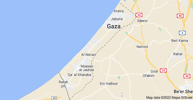 Map of Gaza Strip