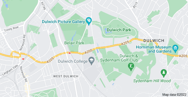 Map of Dulwich, London SE21 7ER