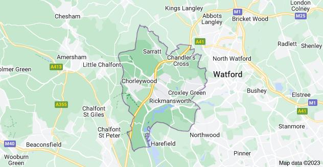 Map of Rickmansworth WD3